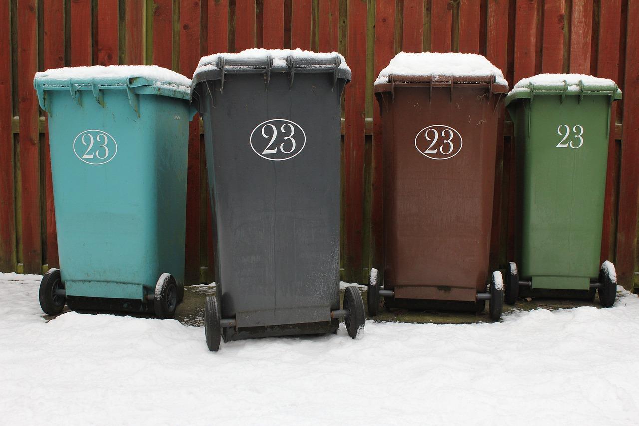 ゴミ箱4つ