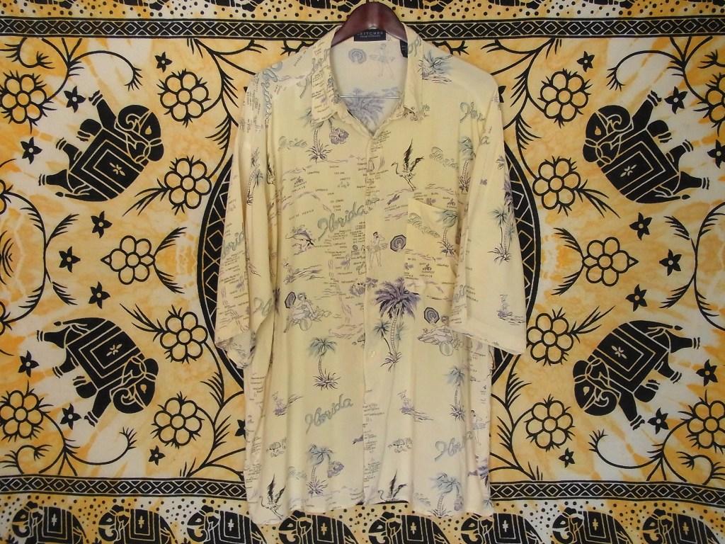 puritanのアロハシャツクリーム色