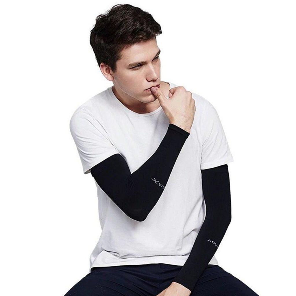 Amazon「(インマン) INMAN アームカバー 6色 腕カバー ロング 冷感 涼しい UVカット UPF50+ 日焼け止め 紫外線防止 男女兼用 【2枚セット】」