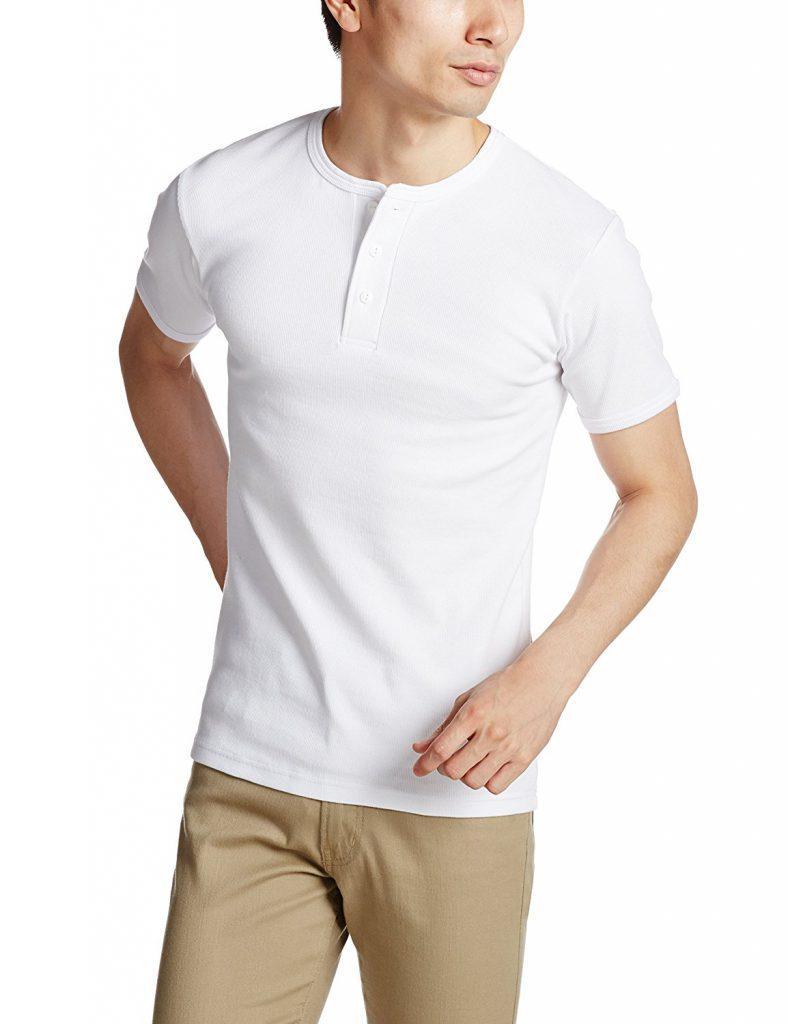 amazon「(アヴィレックス)AVIREX AVI-DAILY S/S HENLEY Tシャツ」