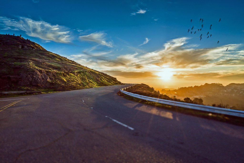 旅先の道路