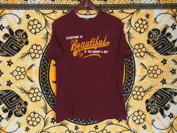 USA古着TシャツSエンジ片面ビンテージプリント綿100アメカジ極美品