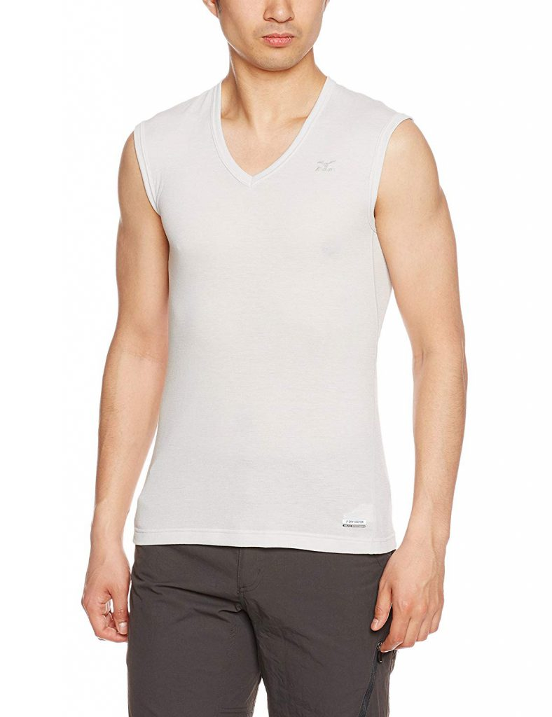 Amazon「(ミズノ) MIZUNO ドライベクター Vネックノースリーブシャツ A2JA4006[メンズ]」